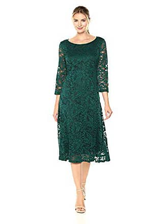 49f11ac7 Ronni Nicole Womens 3/4 Sleeve fit and Flare lace Dress, Spruce, 8