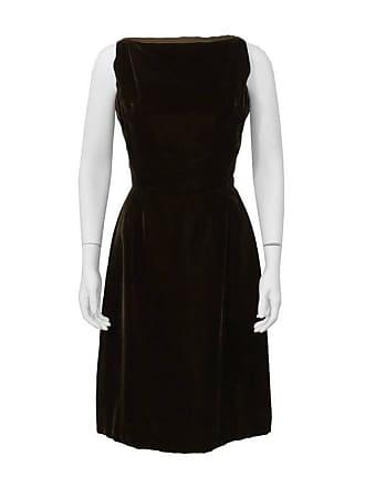 39a326df2da Dior 1960s Christian Dior London Brown Velvet Cocktail Dress