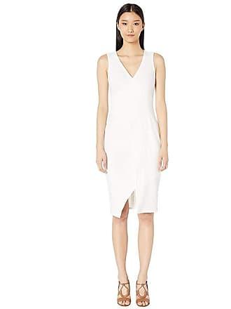 Yigal AzrouËl Sleeveless One-Side Off Shoulder Mechanical Stretch (Marshmallow) Womens Dress