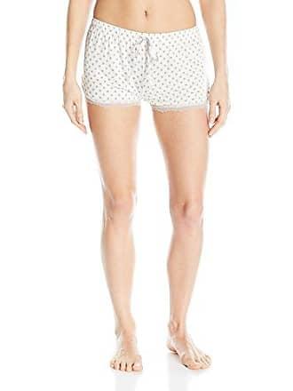 PJ Salvage Womens Sleepwear Pajama Short with Detail, Natural Polka Dot, Large