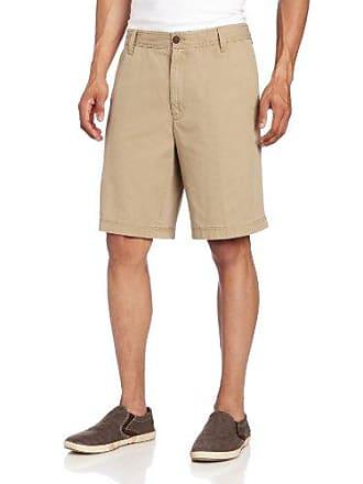 Izod Mens Saltwater Flat Front Short, True Cedarwood Khaki, 33W