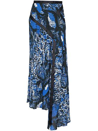 House Of Holland snake-print chiffon skirt - Preto
