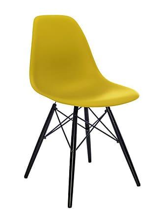 Vitra Eames Plastic Side Chair DSW Gelb, Designer Charles U0026 Ray Eames,  81x46.