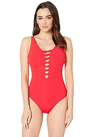 23d929f73f8 Bleu Rod Beattie Twister Lace Down Over the Shoulder Mio w/ Removable Cups  (Scarlet