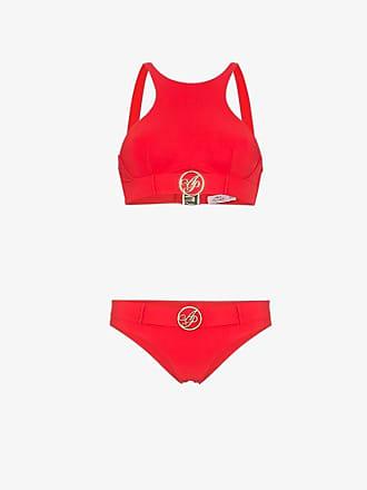 b4998fec0e0e8 Agent Provocateur Red Laurella Belted Logo-Embellished Bikini