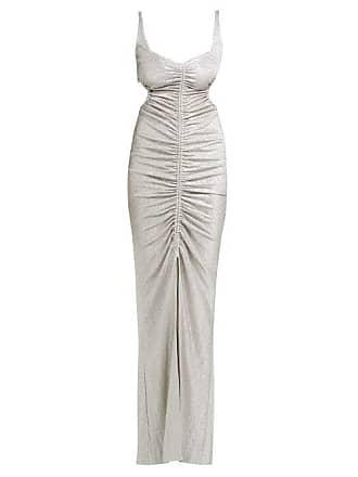 Galvan Sahara Ruched Lamé Dress - Womens - Silver