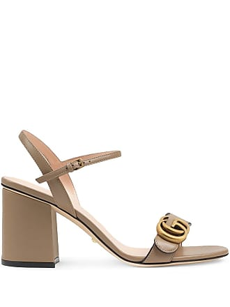 136f4caec8c Gucci GG logo plaque sandals - Brown
