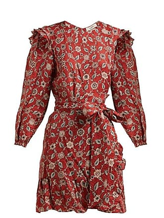 c7747bd499d Isabel Marant Telicia Floral Print Linen Mini Dress - Womens - Red Multi