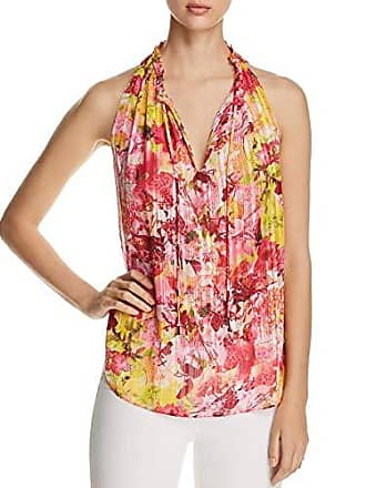 2c529176d08af T Tahari Womens Lynna Floral Printed Sleeveless Blouse