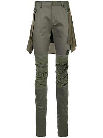Undercover distressed skinny trousers - Green