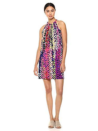 Trina Turk Trina Trina Turk Womens Juju Printed Jersey Sleeveless Dress, Indigo Brushstrokes, Extra Small