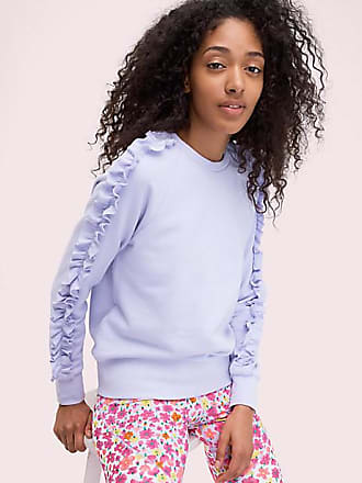 Kate Spade New York Ruffle Pullover, Frozen Lilac - Size XS
