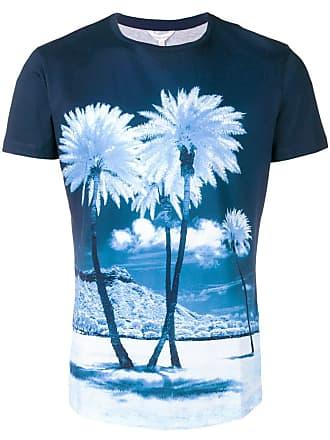 Orlebar Brown palm tree printed T-shirt - Azul