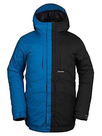 Volcom Mens Fifty 2 Layer Shell Snow Jacket, Blue, Medium