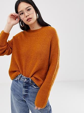 Asos fluffy sweater in rib - Stone