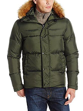 Levi's Mens Puffer with Hood, Olive, Extra Large
