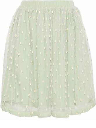 Red Valentino Redvalentino Woman Swiss-dot Tulle Skirt Mint Size 40