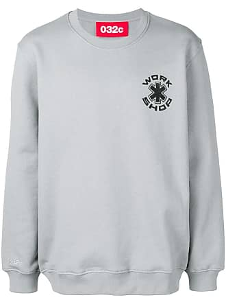 032c logo printed sweatshirt - Grey