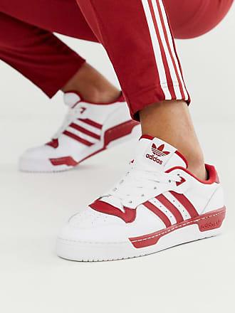 adidas Originals Rivalry - Niedrige Sneaker in Weiß und Rot