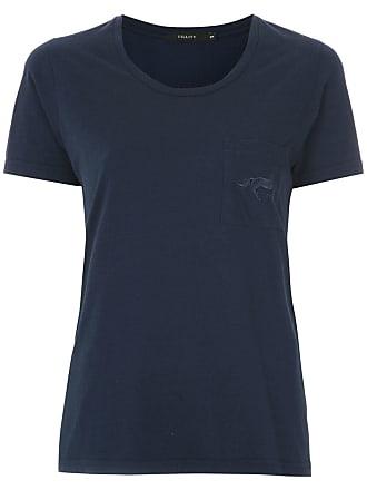 Fillity Camiseta de algodão com bordado - Azul
