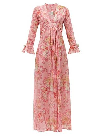 La Costa del Algodón Kala Saskia Print Cotton Muslin Maxi Dress - Womens - Pink Print
