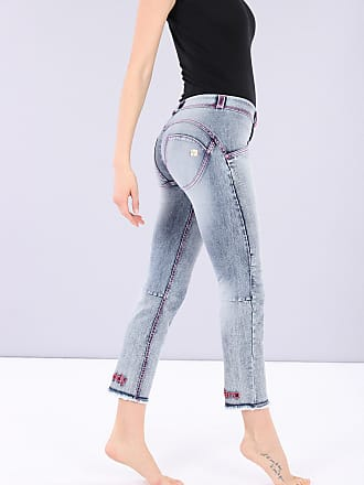 Freddy Ankle-length WR.UP sculpting skinny jeggings with embroidery at the hem