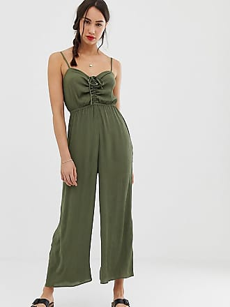 7491639d90a48 Asos Tall ASOS DESIGN Tall cami jumpsuit with gathered bodice detail