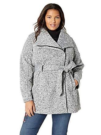 0cb3ea0c8a9 Steve Madden Womens Plus Size Sweater Fleece Wrap Coat