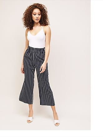 Dynamite Karlie Striped Culotte Pant Navy Stripe