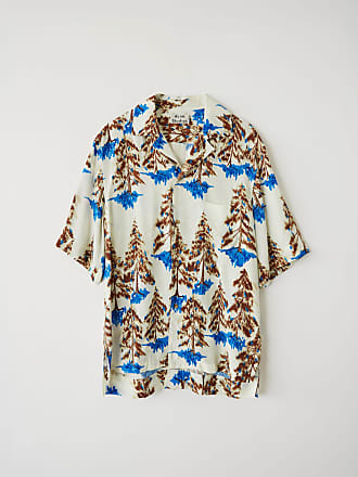 Acne Studios FN-MN-SHIR000034 White/brown Print shirt