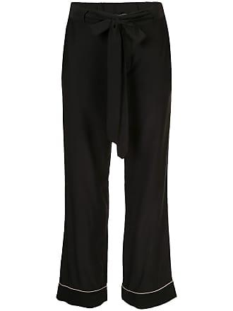 Kiki De Montparnasse Calça de pijama com amarração na cintura - Preto