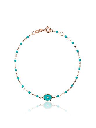 Gigi Clozeau Pulseia de ouro rosê com diamante - Azul
