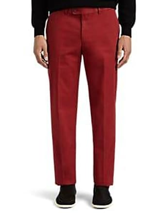 Hiltl Mens Cotton Straight Trousers - Red Size 30