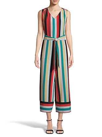 5twelve Striped Tie-Waist Cropped Jumpsuit
