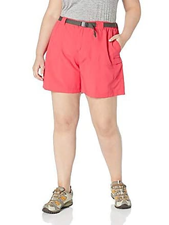 Columbia Womens Plus Size Sandy River Cargo Short, red Camellia, 1X