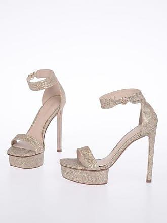 Stuart Weitzman Lurex BACKUPPLAT Sandals with Plateau 14 cm size 38,5