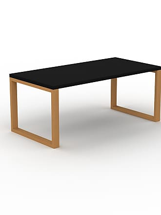 MYCS Bureau - Noir, design contemporain, table de travail, fonctionnelle - 180 x 75 x 90 cm, modulable