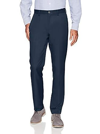 Amazon Essentials Mens Slim-Fit Flat-Front Dress Pants, Navy, 34W x 31L