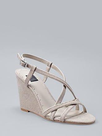 White House Black Market Womens Lizard-Embossed Leather Wedge Sandals by White House Black Market, Taupe, Size 9.5