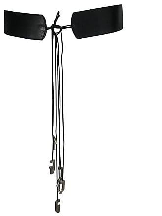 Jean Paul Gaultier Collectible Jean Paul Gaultier Initiales Belt Black  Leather Size 80 32 b6b7a0cc7efc