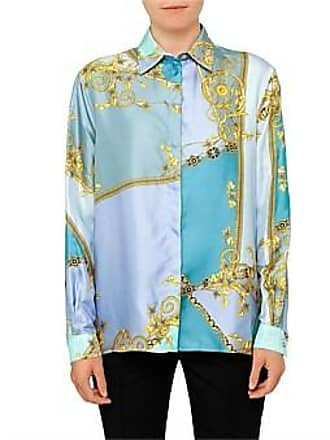 39e5784a0276d7 Versace Collection Long Sleeve Silk Button Up Shirt