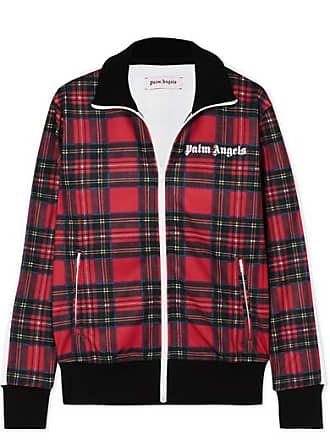 Palm Angels Tartan Jersey Track Jacket - Red