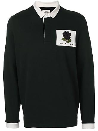 Kent & Curwen Camisa polo com patch de rosa - Preto