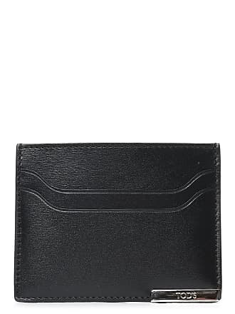 8264c6f697 Tod's MENS XAMBRRF0200PULB999 BLACK LEATHER CARD HOLDER