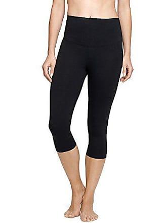 Yummie Tummie Womens Talia Capri Cotton Stretch Shapewear Legging Black, X-Small