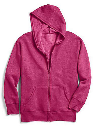 Just My Size ComfortSoft EcoSmart Fleece Full-Zip Womens Hoodie Violet Splendor Heather 1X
