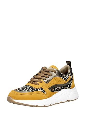 e44e5455998a0b Poelman dames sneakers Geel Leer   Textiel