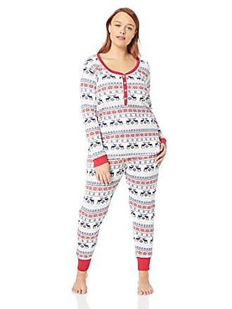 4f29c3921 Tommy Hilfiger Plus Size Womens Thermal Long Sleeve Ski Pajama Set Pj, TH  Moose Fairisle