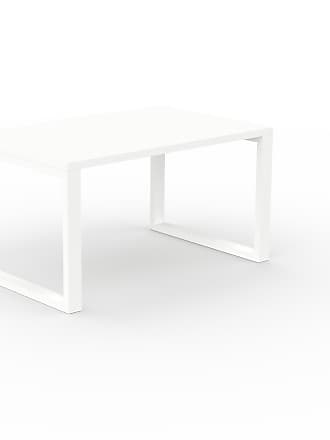 MYCS Bureau - Blanc, design contemporain, table de travail, fonctionnelle - 140 x 75 x 90 cm, modulable
