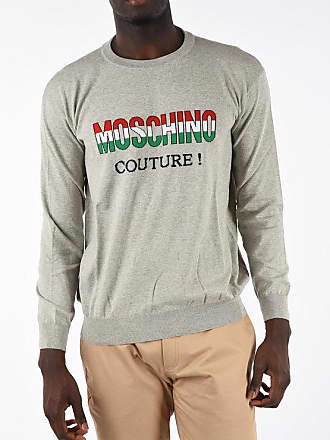 Moschino COUTURE! Crew-Neck Sweater with Embroidery Größe 56